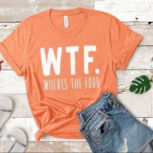 WTF Graphic TShirt Orange White NEW Sz XS - 3XL